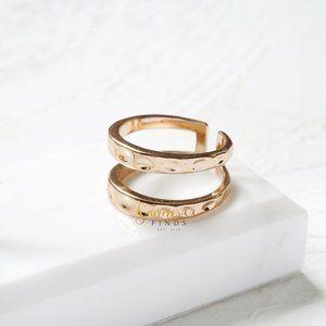 Kendra Scott Zorte Double Band Ring Rose Gold